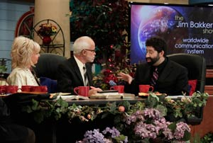 Pastor Jim Bakker and Lori Bakker with Rabbi Jonathan Cahn Show 1995