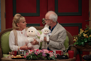 Jim Bakker and Lori Bakker with Lambs