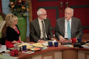 Lori Bakker, Pastor Jim Bakker, and Sid Roth