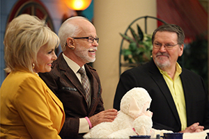 Lori Bakker, Pastor Jim Bakker, and Bobby Conner