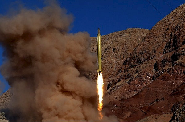 Iran missile is launched in desert location