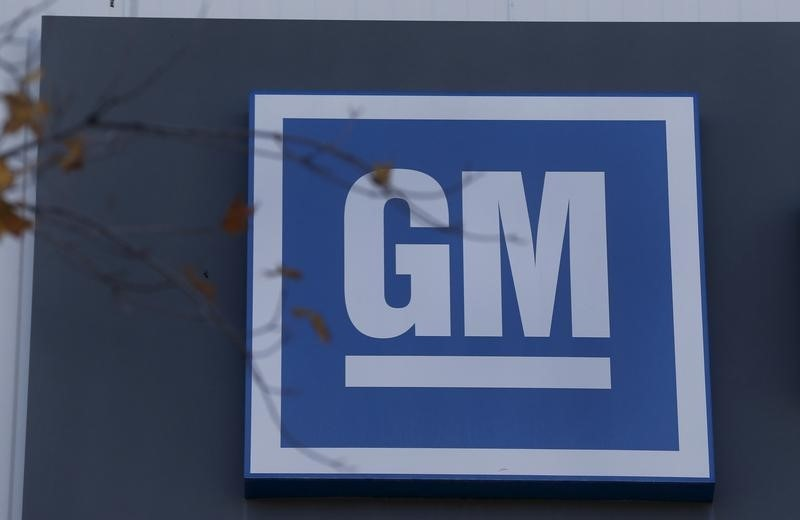 The GM logo is seen at the General Motors Lansing Grand River Assembly Plan