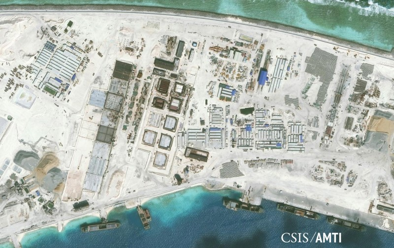 China Made Island in South China Sea