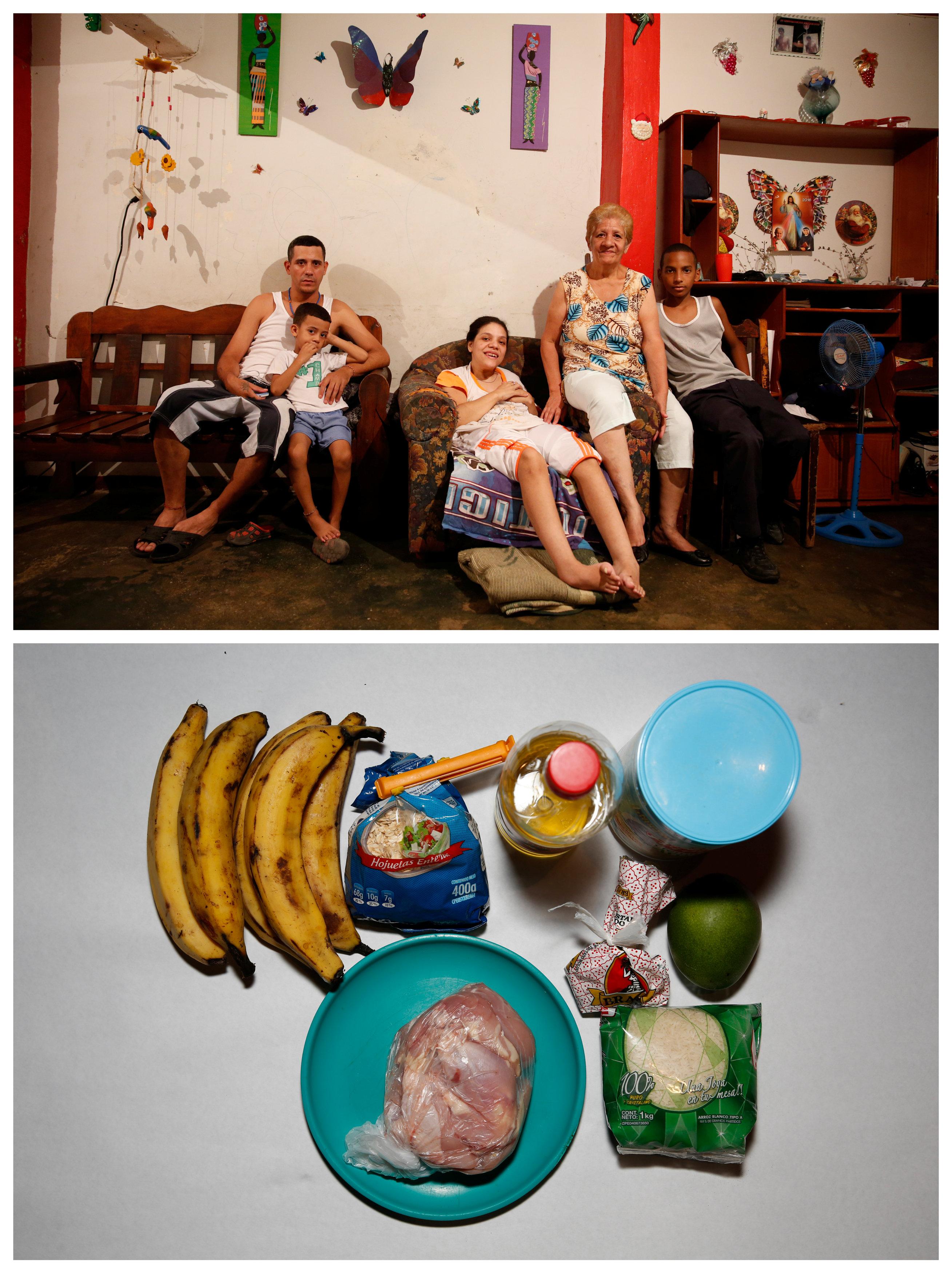 Struggling Venezuelan family