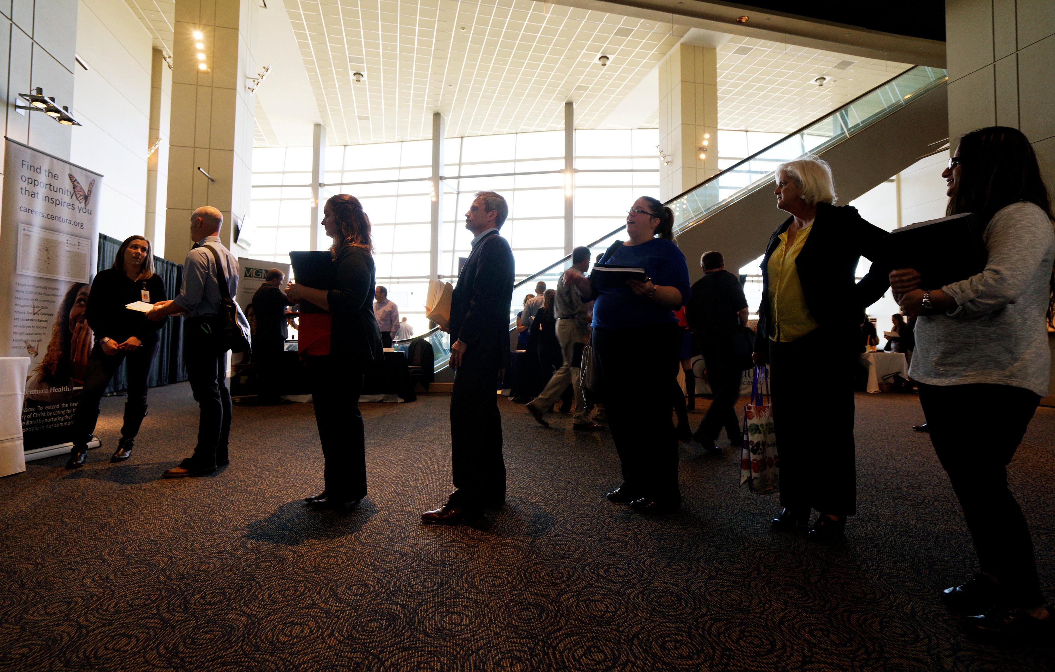 Job Seekers at Colorado Hospital Job Fair