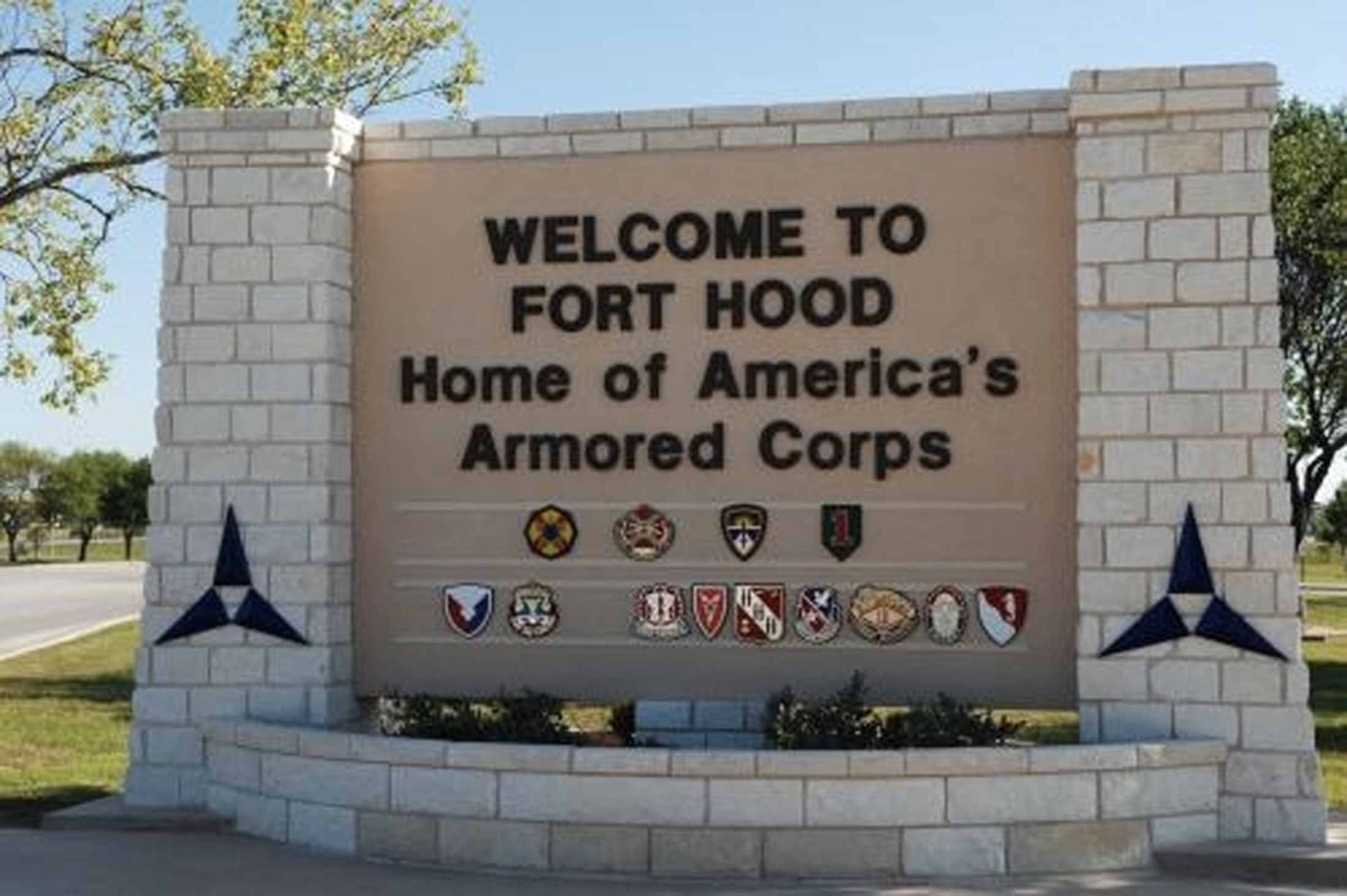 Undated photograph of the U.S. Army post at Fort Hood, Texas