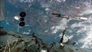 The Orbital ATK Cygnus spacecraft departs the International Space Station