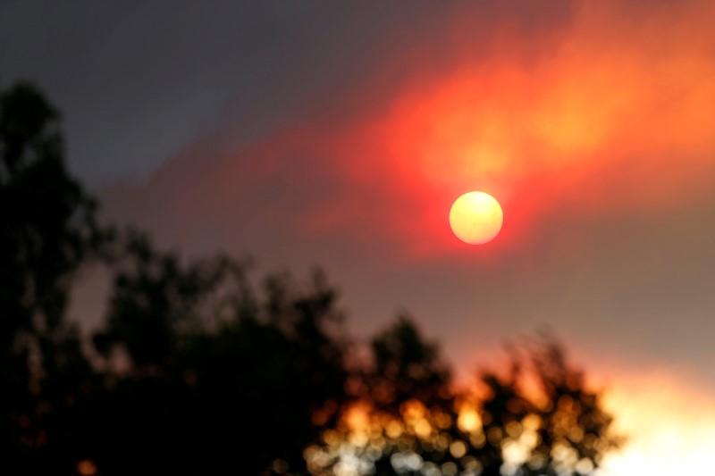 Sun, Smoke, Sherpa Fire