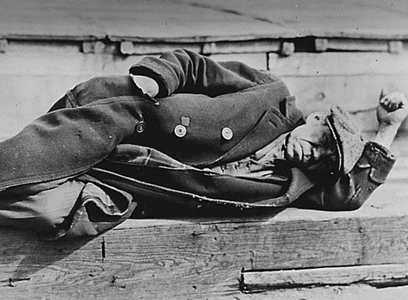 Unemployed man during the Great Depression
