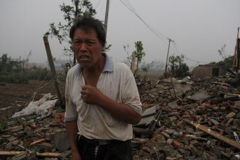 Tornado and hail storm hits China