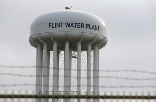 Flint Michigan Water Tower