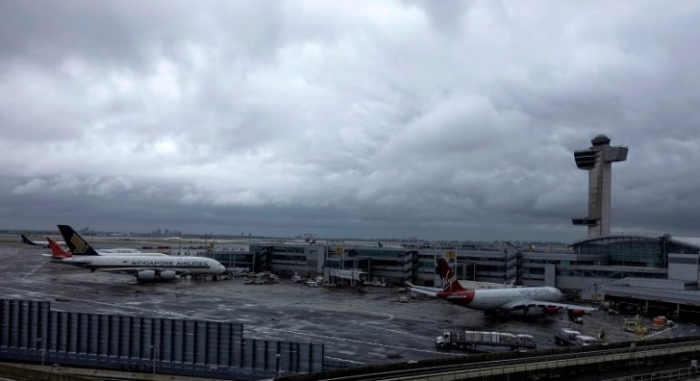 A general view of the international arrival terminal at JFK airport in New York