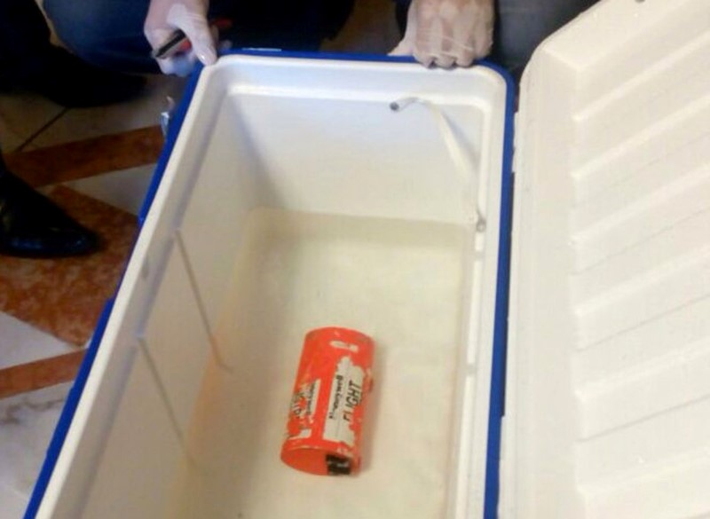 A flight recorder retrieved from the crashed EgyptAir flight MS804 is seen in this undated picture issued June 17, 2016. EGYPTIAN AVIATION MINISTRY