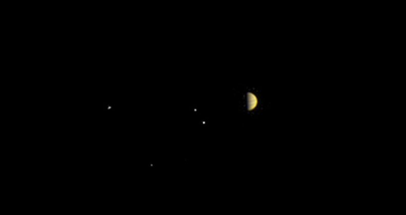 NASA's Juno spacecraft obtained this color view at a distance of 6.8 million miles (10.9 million kilometers) from Jupiter