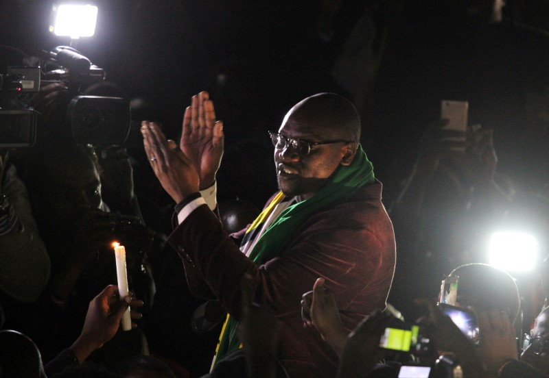 Zimbabwean Pastor Mawarire addresses followers after his release at Harare Magistrates court