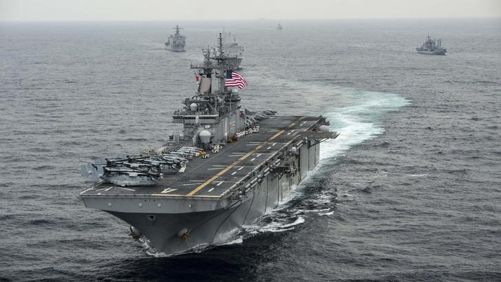 USS Boxer in East Sea