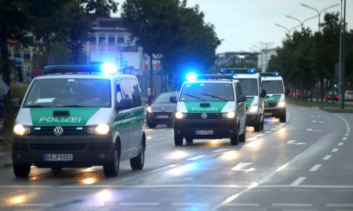 Police in Munich getting to shooting scene