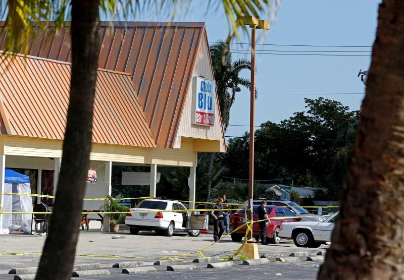Shooting at Club Blu crime scene