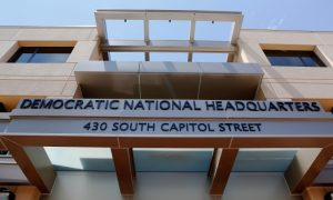 he headquarters of the Democratic National Committee is seen in Washington,