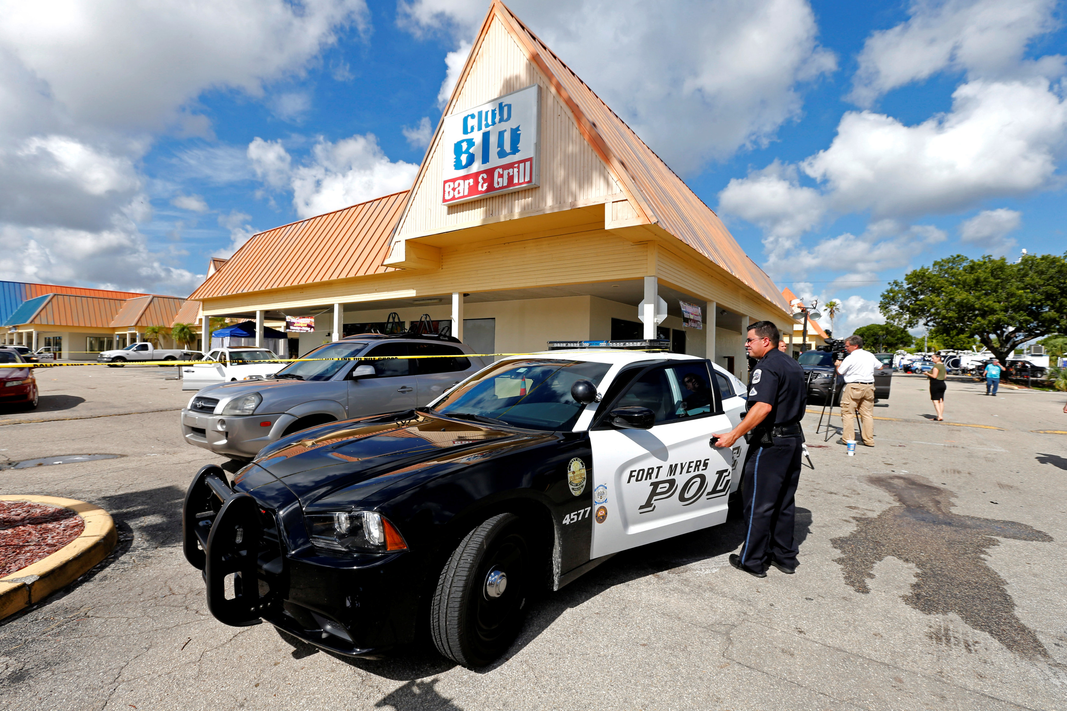 Fort Myers police at scene of Club Blu shooting