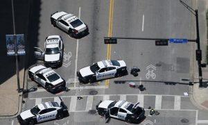 Crime scene of Dallas shooting