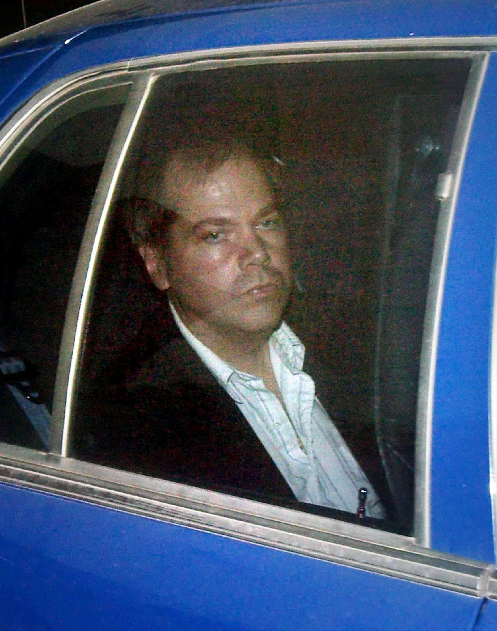 John Hinckley Jr. arrives at the E. Barrett Prettyman U.S. District Court in Washington November 19, 2003.