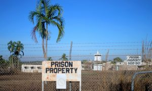 Barbed wire fences surround the Don Dale Youth Detention Centre located near Darwin in the Northern Territory, Australia,
