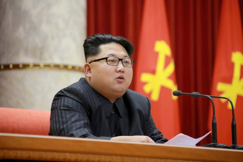 FILE PHOTO - North Korean leader Kim Jong Un attends the 3rd Meeting of Activists in Fisheries under the Korean People's Army