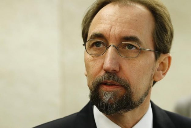 United Nations High Commissioner for Human Rights Al Hussein arrives for the 31st session of the Human Rights Council in Geneva