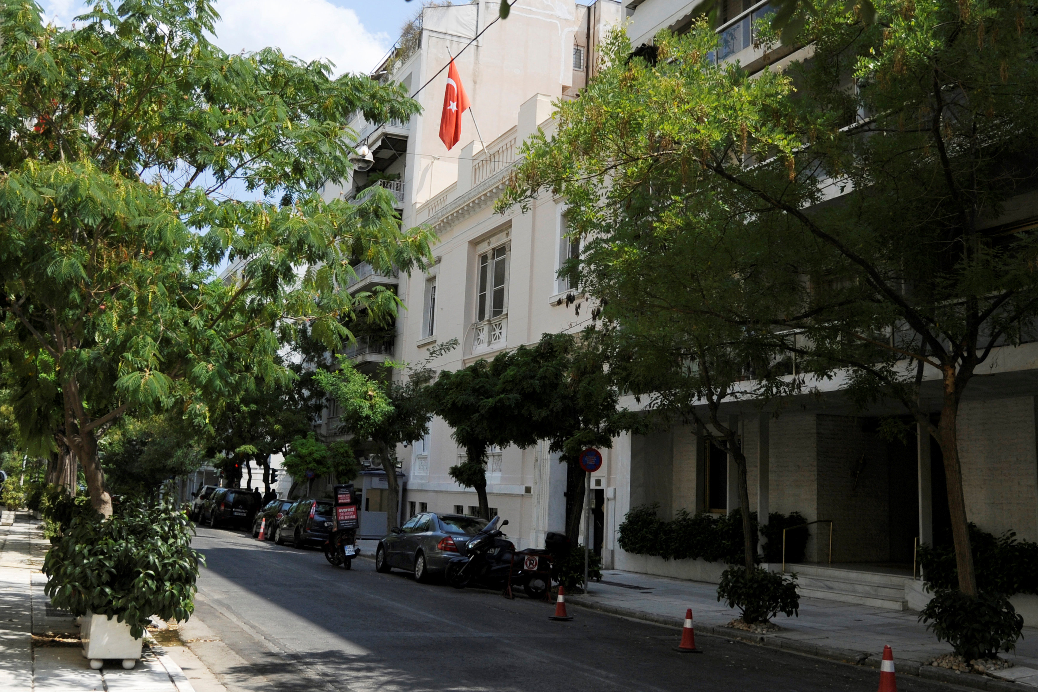 A view of the building of Turkish Embassy in Athens, Greece,