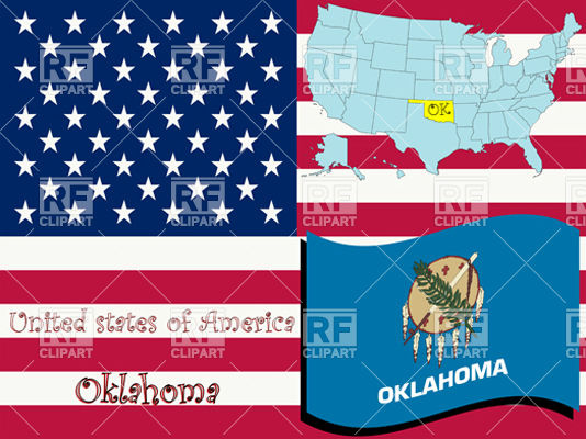 oklahoma-state-flag-and-map-outline-Download-Royalty-free-Vector-File-EPS-22921