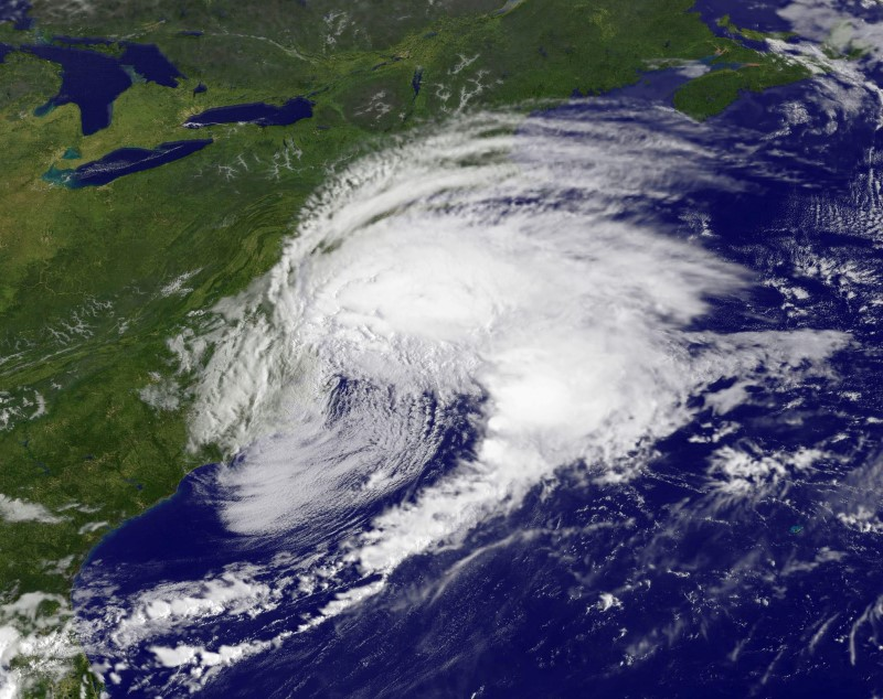 Tropical Storm Hermine is pictured off the coast of the U.S. Mid-Atlantic