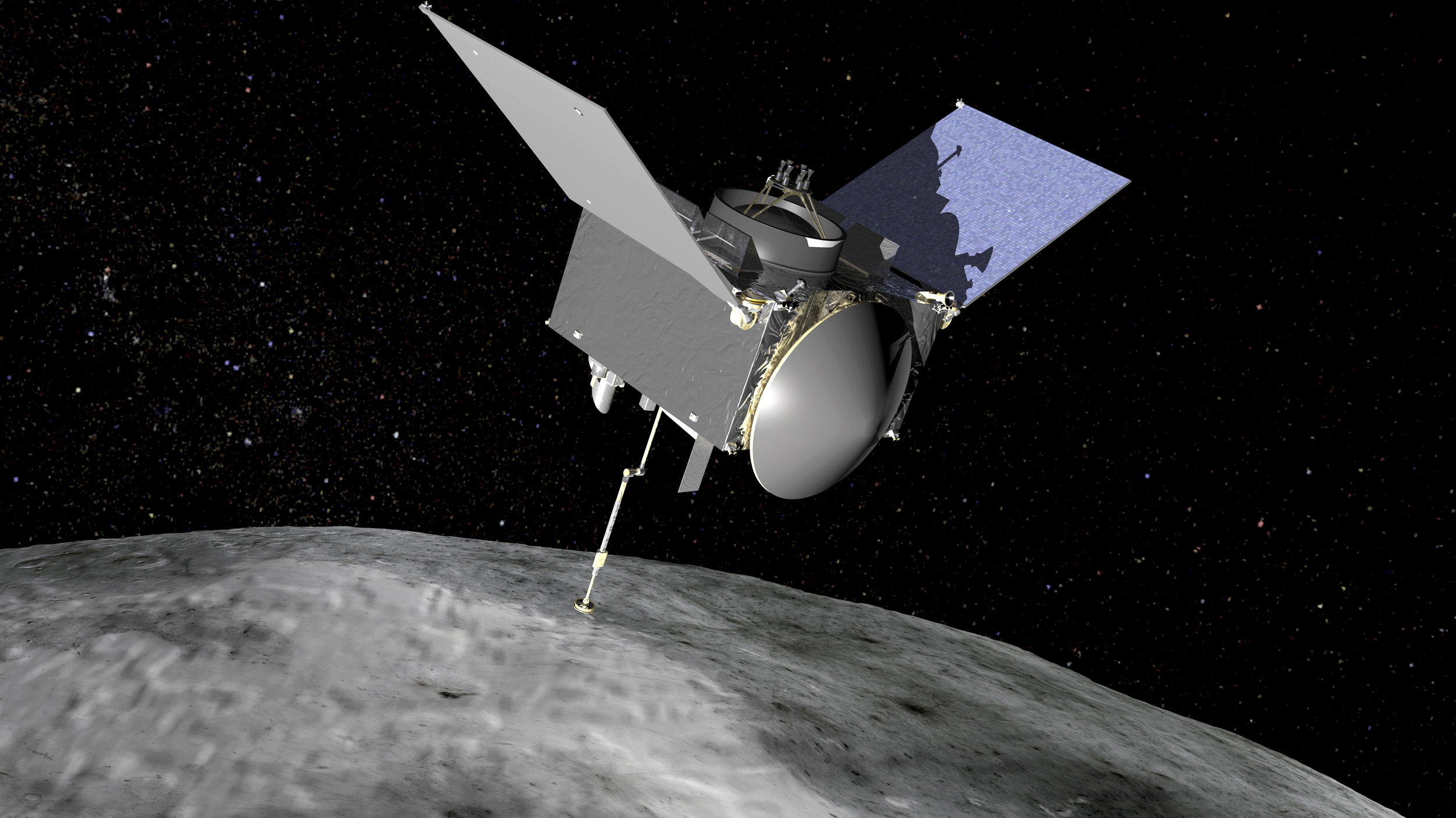 Artist rendering of NASA's OSIRIS-REx spacecraft is seen in an undated handout image