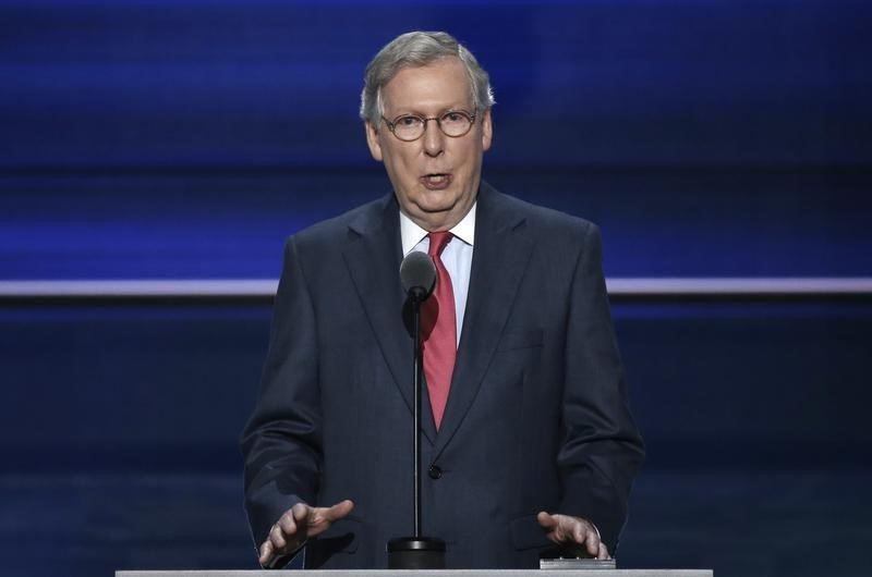 U.S. Senate Majority Leader Mitch McConnell speaks at the Republican National Convention in Cleveland