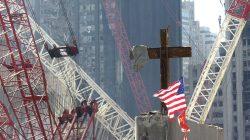 The Ground Zero Cross watching over workers