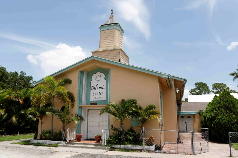 A view of the Islamic Center of Fort Pierce, a center attended by Omar Mateen who attacked Pulse nightclub in Orlando, in Fort Pierce, Florida,