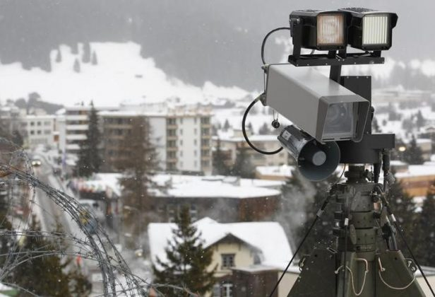 Camera looking over Swiss resort