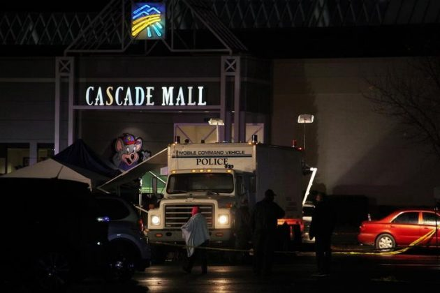 Authorities are pictured at the Cascade Mall following reports of an active shooter in Burlington, Washington. REUTERS/Matt Mills McKnight