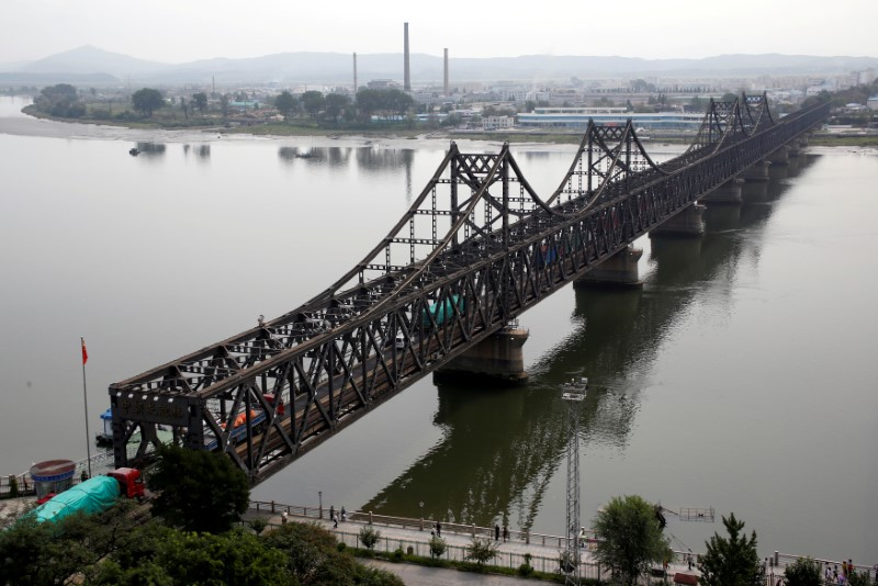 Friendship bridge between China and North Korea
