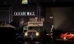 Authorities at the Cascade Mall