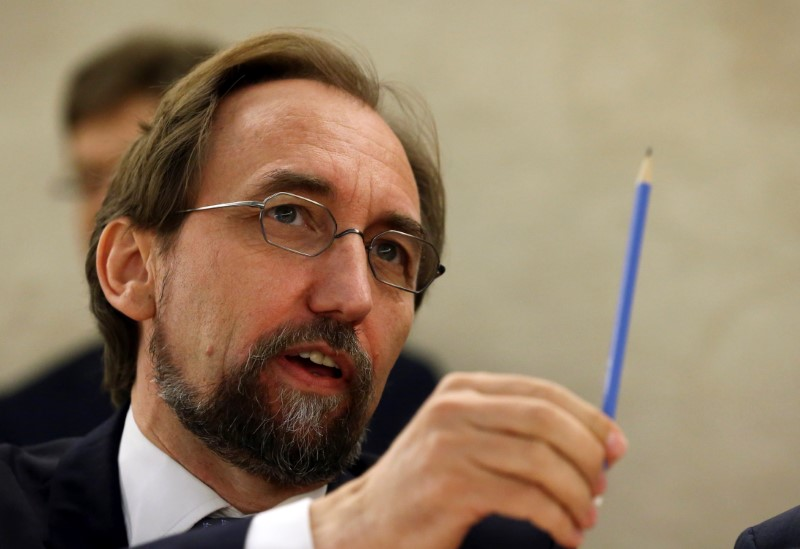 United Nations High Commissioner for Human Rights Zeid Ra'ad Al Hussein attends the 33rd session of the Human Rights Council at the U.N. European headquarters in Geneva, Switzerland, September 13, 2016.