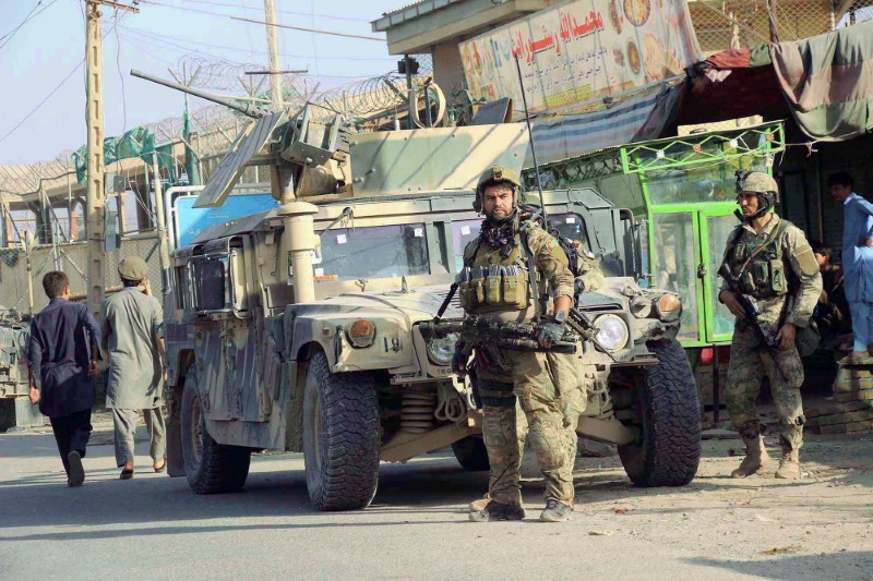 Afghan security forces fight Taliban