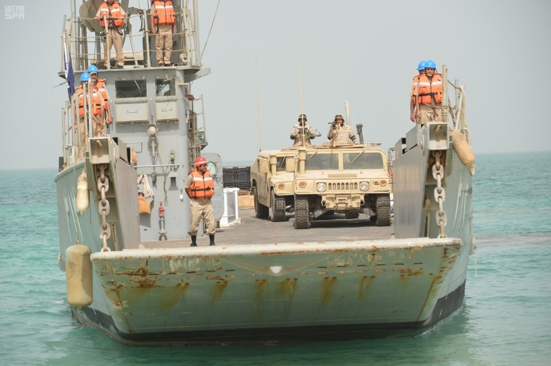 Members of Royal Saudi Navy takes part in ÒGulf Shield 1Ó exercise, east of Saudi Arabia, in this handout photo received October 4, 2016. Saudi Press Agency/