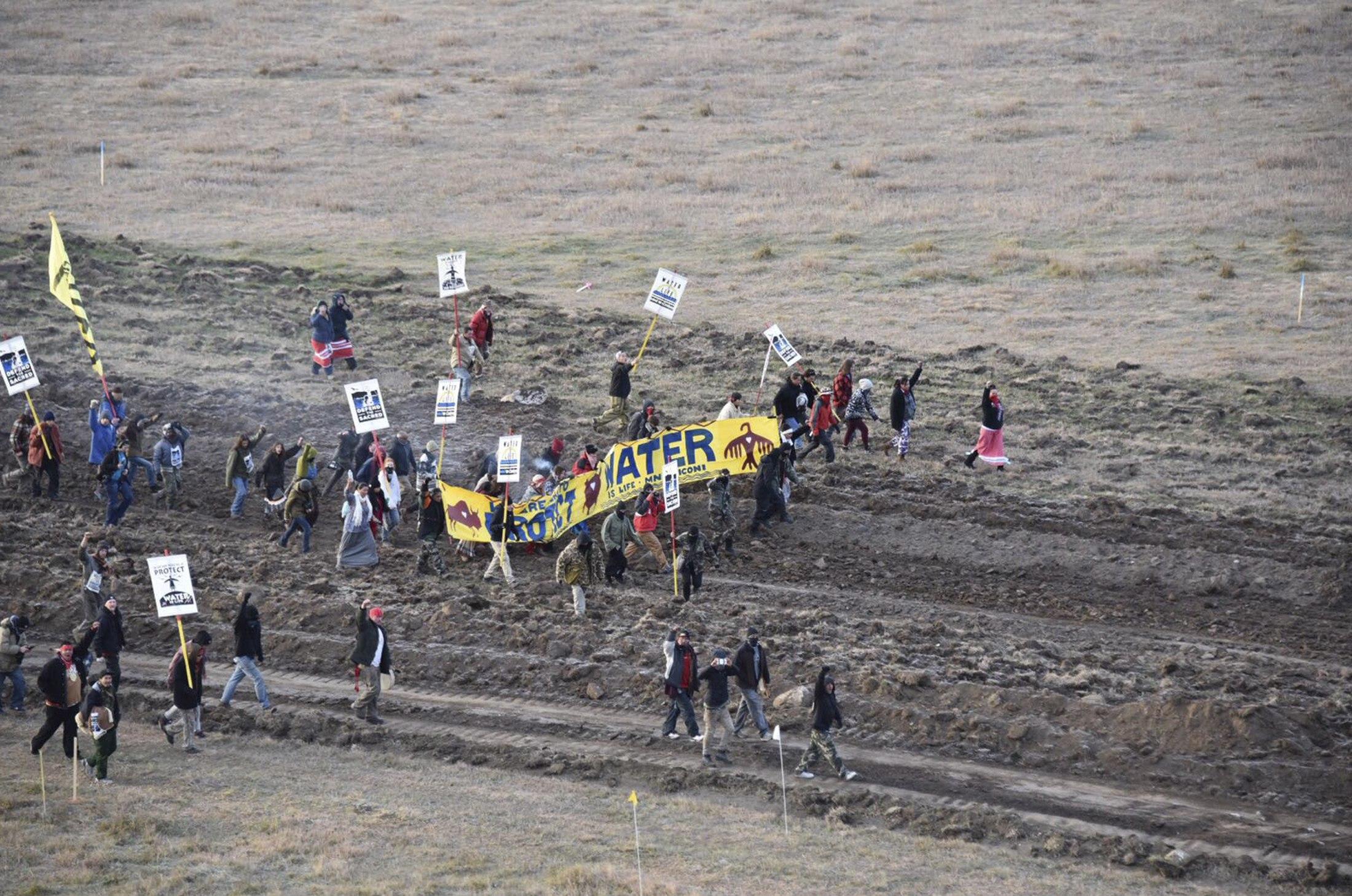 North Dakota Pipeline protesters