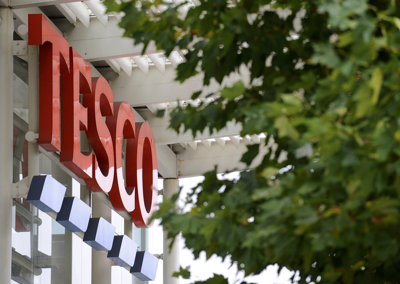 A Tesco supermarket is seen, in west London