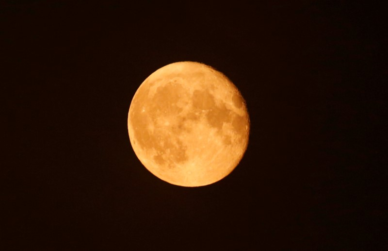 The super moon appears in the sky in Cairo, Egypt, in this file photo taken October 17, 2016.