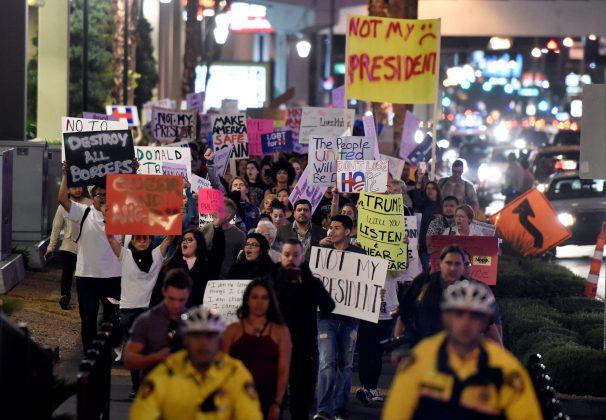 Protests on Las Vegas Strip