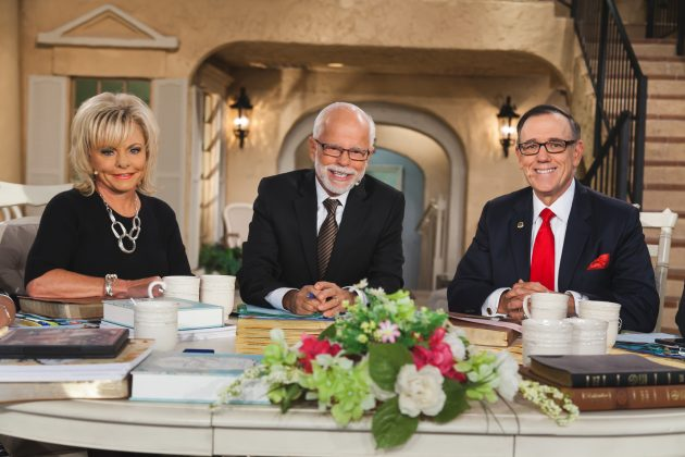 Jim and Lori Bakker and Steve Strang, founder of Charisma magazine