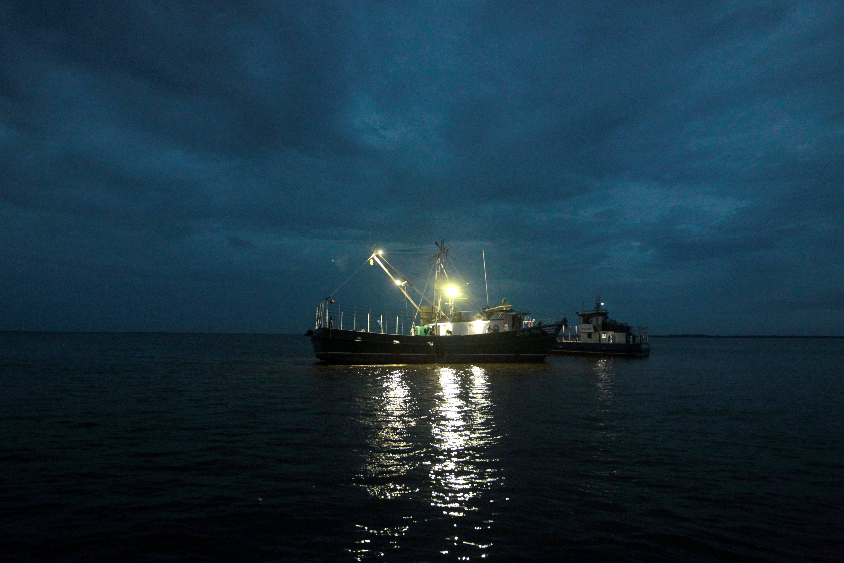 A boat is seen near the Bluefields Port after Hurricane Otto hit southern Nicaragua at Bluefields, Nicaragu