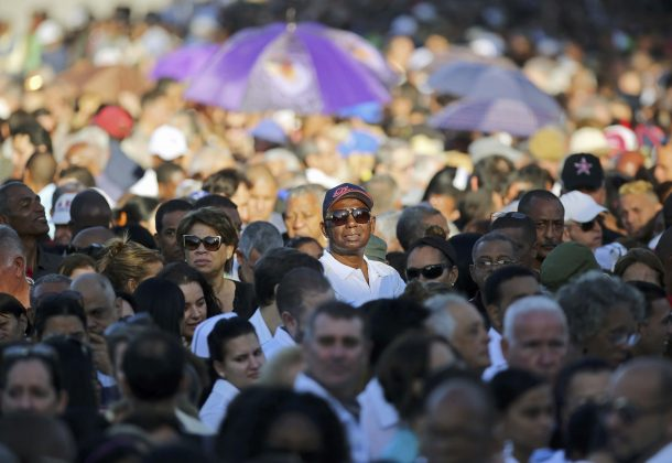 People stand in line to pay tribute to Cuba's late President Fidel Castro in Revolution Square in Havana, Cuba,